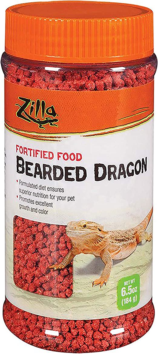 Amazon.com : Zilla Reptile Food Bearded Dragon Fortified, 6.5-Ounce : Pet Food : Pet Supplies