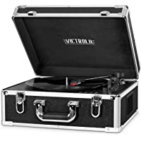 Victrola VSC-551 BLK 3-Speed Bluetooth Suitcase Turntable