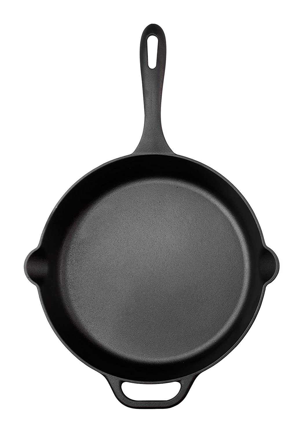 Victoria SKL-212 Cast Iron Skillet Large Frying Pan Helper Handle Seasoned with 100 Kosher Certified Non-GMO Flaxseed Oil, 12 Inch, Black