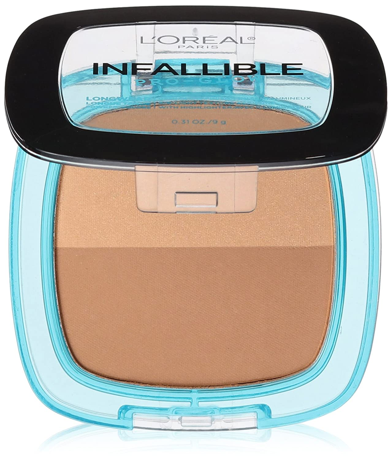 L'Oréal Paris Infallible Pro Glow Pressed Powder, Cocoa, 0.31 oz.