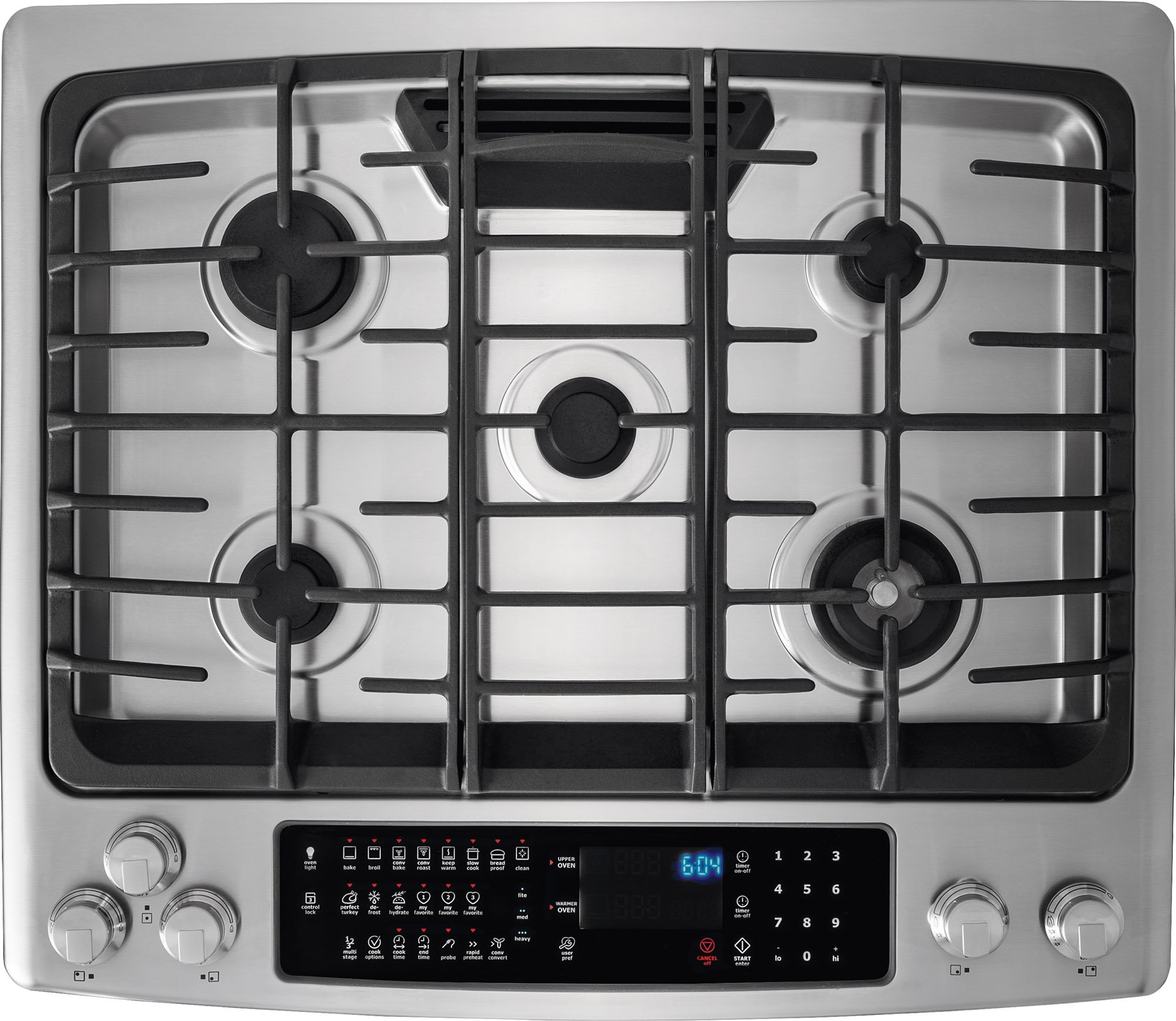 Electrolux EW30GS80RS 30'' Star K ADA Compliant Gas Slide-In Range Oven with 5 Sealed Burners 4.5 cu. ft. Oven Capacity Continuous Grates and Luxury-Glide Oven Rack in Stainless by Electrolux (Image #2)