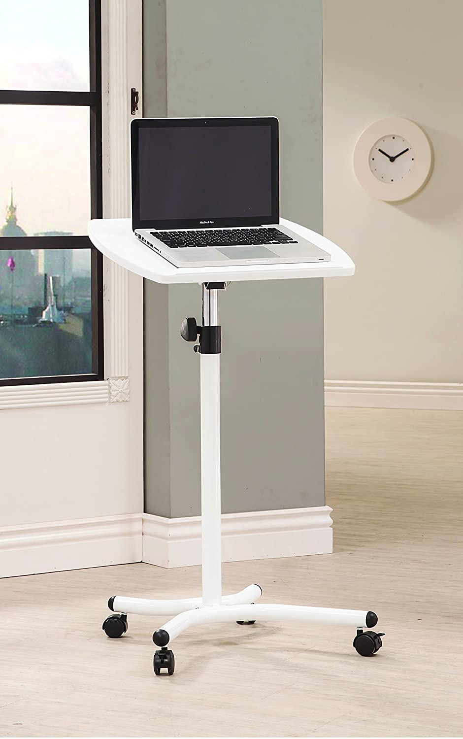Coaster Home Furnishings 800484 Laptop Stand with Casters, White by Coaster Home Furnishings B00KQGDN4S