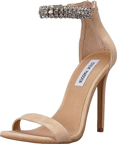 a38b5d025fa413 Steve Madden Women s Rando Heeled Sandal Natural Suede 7 M ...