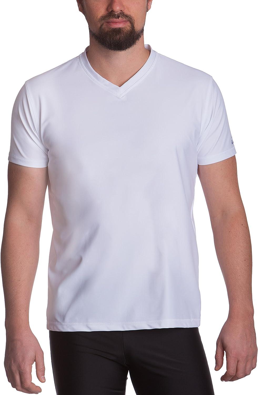 T-shirt homme iQ UV 300 coupe regular col V protection T-shirt anti-UV