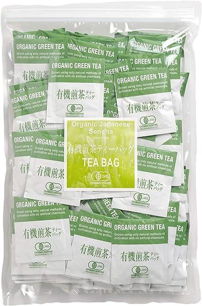 茶工場 浜佐商店 味と素材にこだわった有機煎茶ティーバッグ 業務用100袋入