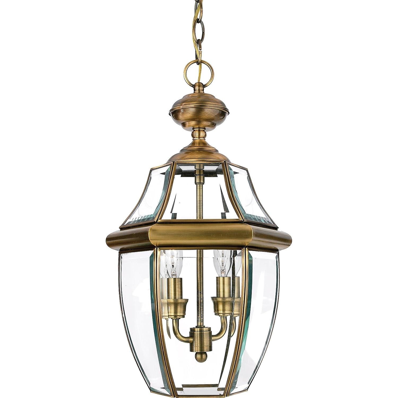 Quoizel NY1178A Newbury 2-Light Outdoor Hanging Lantern, Antique Brass by Quoizel B000LVI7UI
