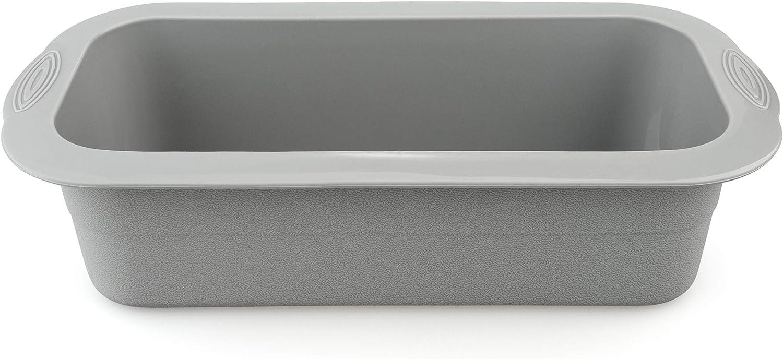Silicona platino. antiadherente 23 x 10 x 7x Backefix baja en calor/ías Molde de silicona flexible para pan gris
