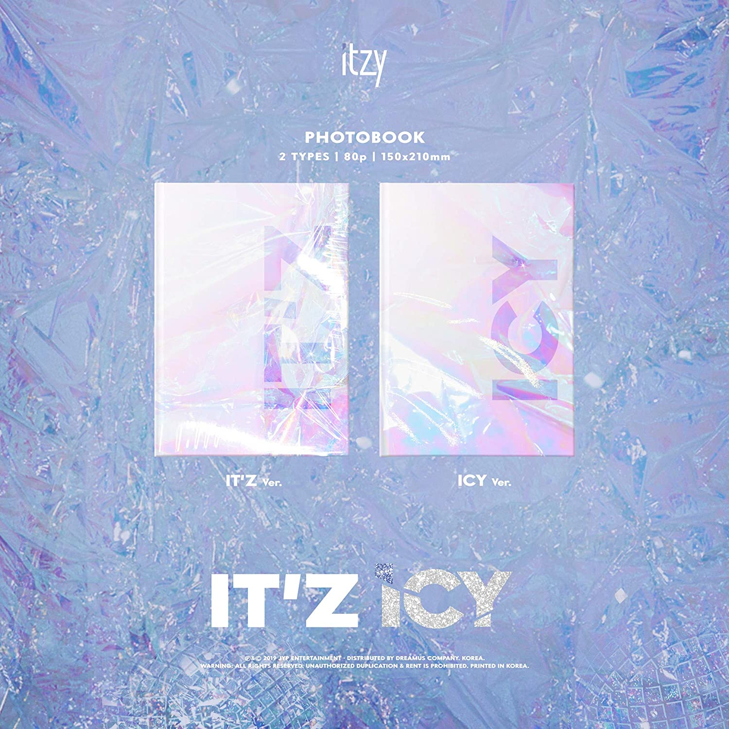 Photocard Set Pack with Pre Order Benefit Tracking Provided ICY ver. Pre Order - ITZY Album ITz ICY Extra Decorative Sticker Set