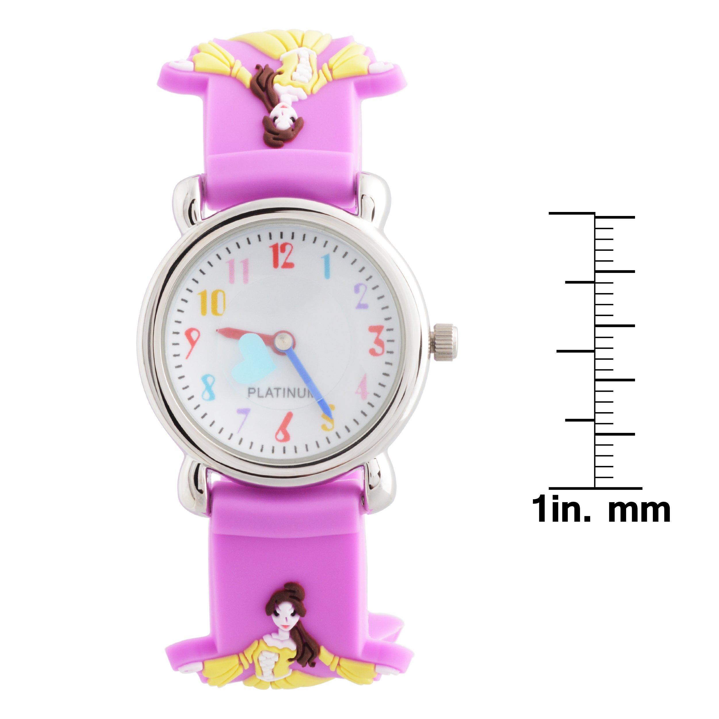 Brinley Co. Girls Princess Design Silicone Watch