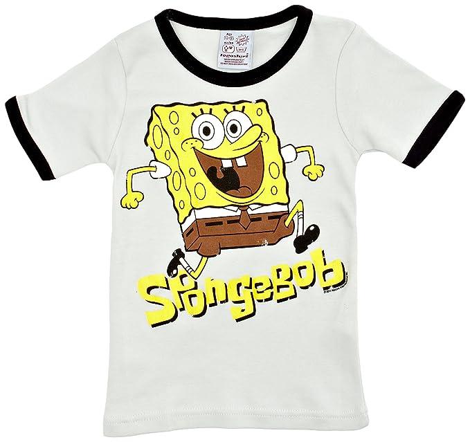 Logoshirt - Camiseta con Estampado de Bob Esponja con Cuello Redondo para  niño 39b970b6d4804