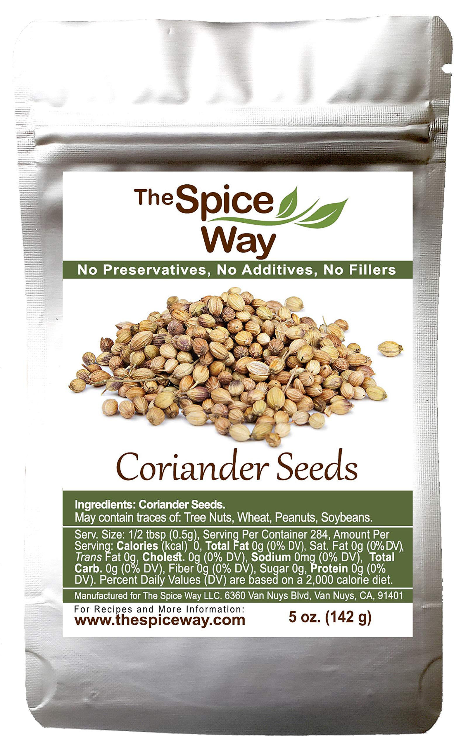 The Spice Way Coriander Seeds - 5 oz