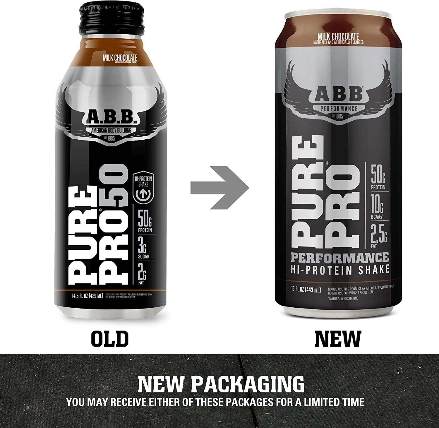 Amazon Com American Body Building Abb Pure Pro 50 Post Workout Recovery Protein Shake Muscle Builder Hi Protein Low Fat Low Sugar Milk Chocolate Flavored Ready To Drink 15 Oz Bottles 12 Count Health