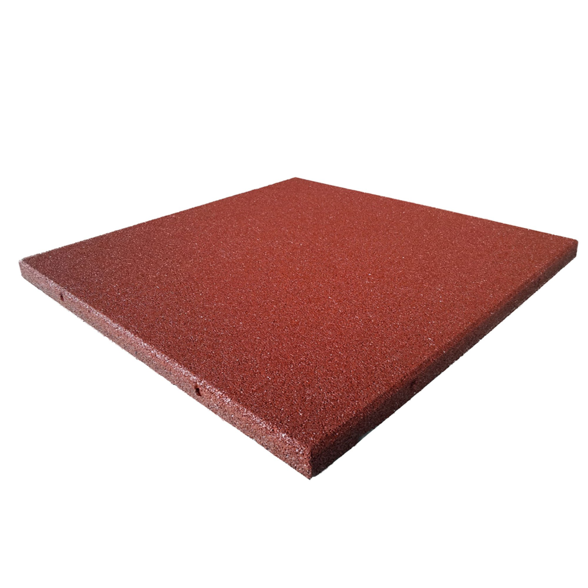 Rubber Cal Eco-Sport Interlocking Tile-Pack of 5, Red, 3/4 x 20 x 20-Inch