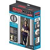 Magic Mesh Deluxe- Black- Hands Free Magnetic Screen Door, Mesh Curtain Keeps Bugs Out, Frame Hook & Loop, Hands Free, Pet &