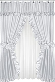 Royal Bath Lauren Double Swag Dobby Fabric Shower Curtain 100 Polyester Size 70X72
