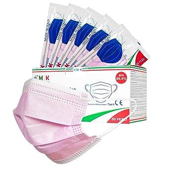 Confezione da 50 per Uso Esterno in Materiale Non Tessuto a 3 Strati Multicolore