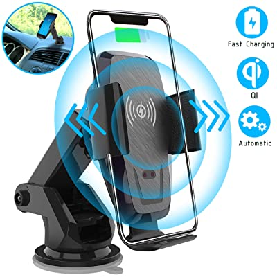 Iotton Wireless Car Charger, Auto-Clamp 10W/7.5W Qi Fast Charging Car Mount, Windshield Dash Air Vent Phone Holder Compatible iPhone 11/11 Pro/11 Pro Max/XS/XS Max/X/8/8+, Samsung Note10/S10/S10+/S9: Home Audio & Theater