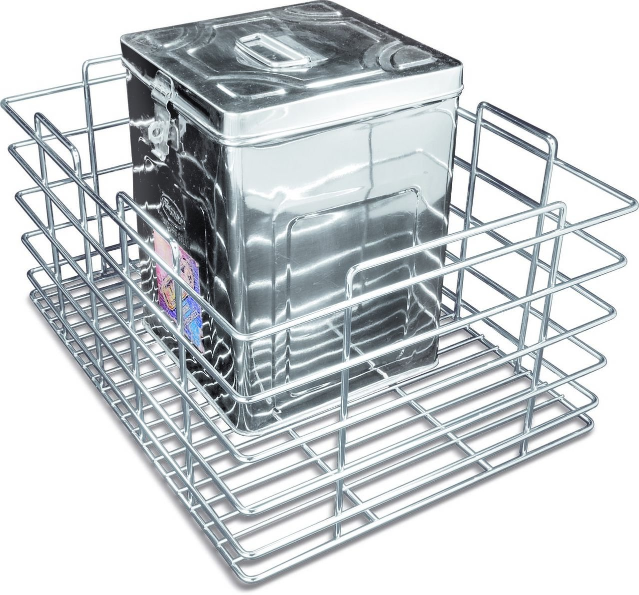 Now & Ever Stainless Steel Modular Kitchen Grain Trolly Basket, 17 W ...