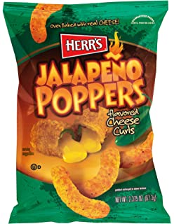 Amazon com: Herr's - JALAPENO POPPER CHEESE CURLS, Pack of 42 bags