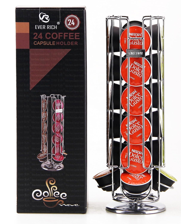 Ever Rich ® Dolce Gusto Soporte Giratorio para 24/32/35 cápsulas de café (24): Amazon.es: Hogar