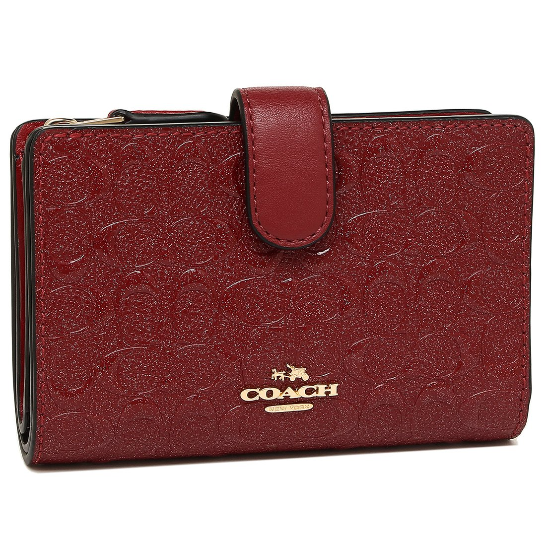 コーチ 財布 アウトレット COACH F25937 ミディアム コーナー ジップ ウォレット レディース 二つ折り財布 [並行輸入品] B07D36JQ5L (2)IMN2G ダークレッド (2)IMN2G ダークレッド