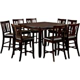 Furniture Of America Frederick 9 Piece Square Counter Height Table Set With  16 Inch