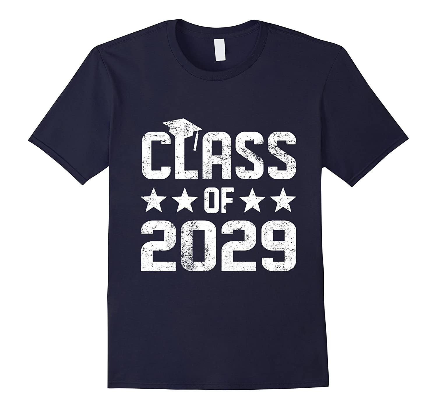 2029 Kindergarten Graduation Shirt Kids Boys Girls Cap Gown-CD