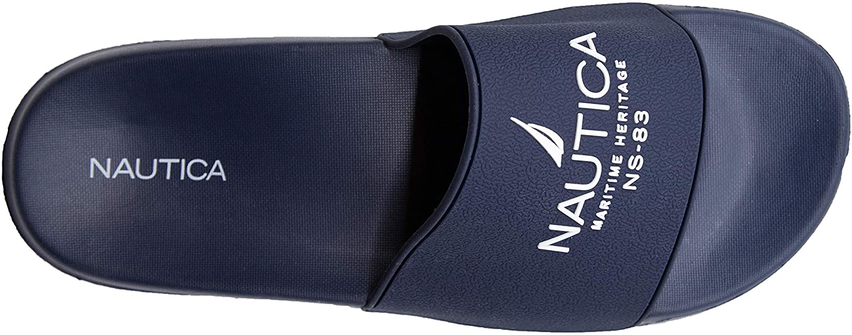 Nautica Mens Athletic Slide Comfort Sandal