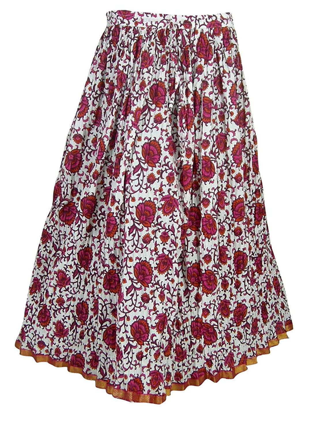 Printed Cotton Multicolor Summer Skirt India Clothes