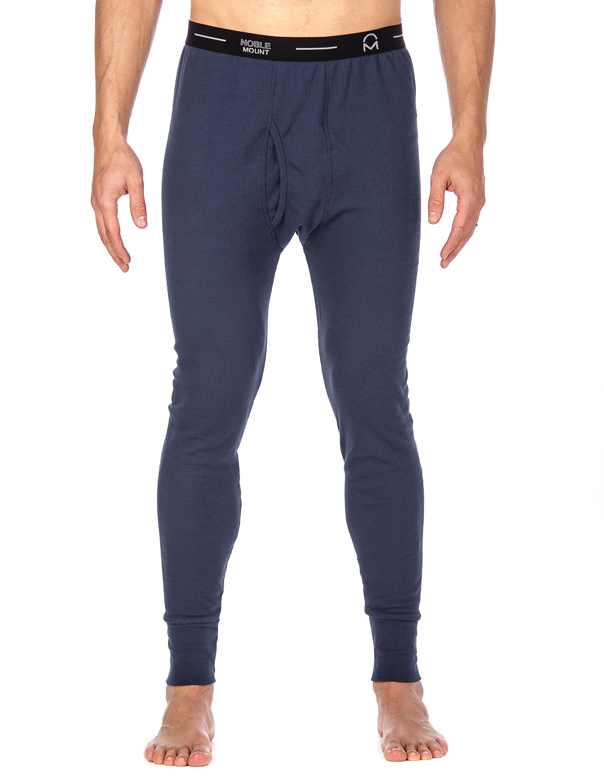 Men's Extreme Cold Waffle Knit Thermal Long John Pants - Dark Blue -Large