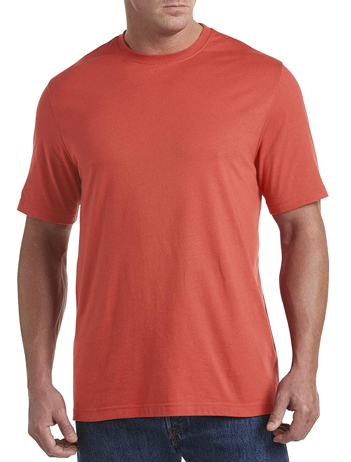 Harbor Bay by DXL Big and Tall Wicking Jersey No-Pocket Tee