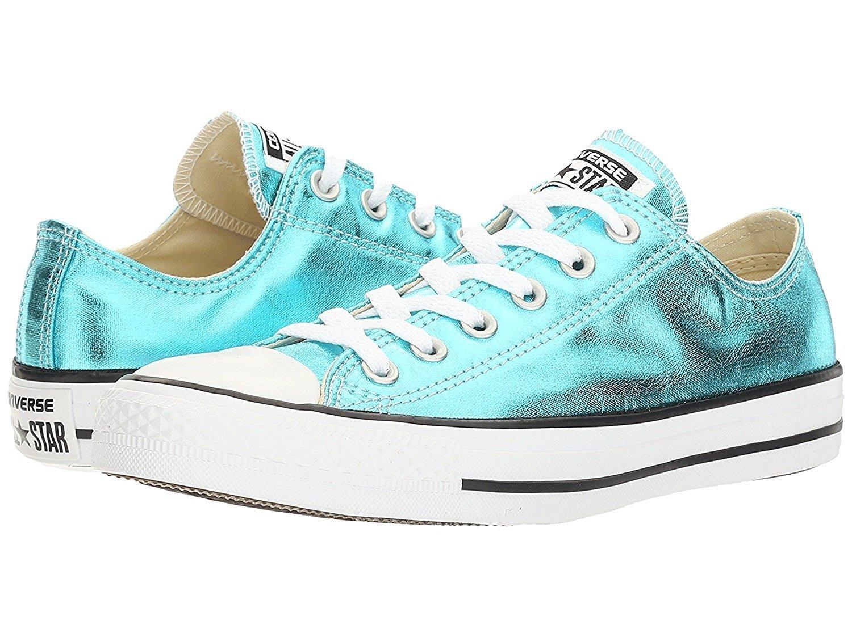 Converse AS Hi Can charcoal 1J793 Unisex-Erwachsene Sneaker  Medium|Schwarz, Wei?  (Fresh Cyan/Black/White)