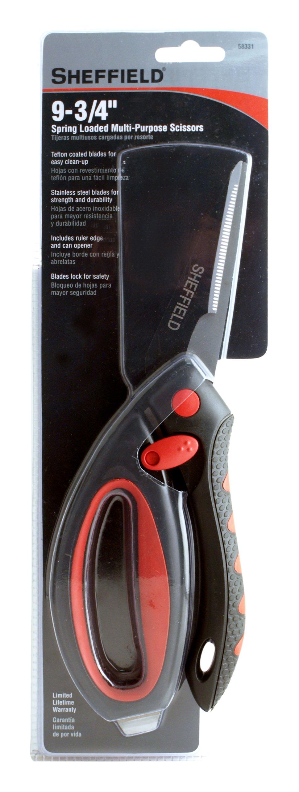 Sheffield 58331 9-3/4 Inch Spring Loaded Scissors