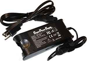 Super Power Supply AC / DC Laptop Charger Adapter Cord for DELL INSPIRON 300m 500m 505m 510m 600m 630m 640m 700m 710m 1150 6000 6400 8500 8600 9200 9300 9400 E1405 E1705 Series, LATITUDE D400 D410 D500 D505 D510 D5401 D600 D610 D620 D800 D810 X300 XPS140 X300 131L E4200 E4300 D830 Series, PRECISION M20 M60 M65 M140 M1210Series,Vostro 1000 1400 1500 1700, DELL studio 1537 1735 1737 15 17 Series 90W 19.5V 4.62A Netbook Notebook Battery Plug
