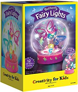 Creativity for Kids Butterfly Fairy Lights Craft Kit - Makes 1 Butterfly Night Light for Kids