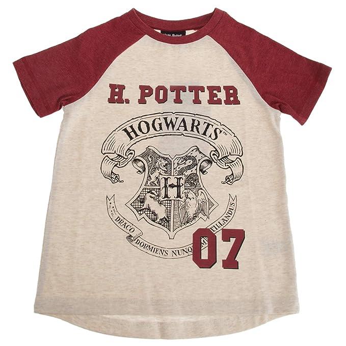 HARRY POTTER - Camiseta Modelo Hogwarts para niños y niñas (5-6 Años/