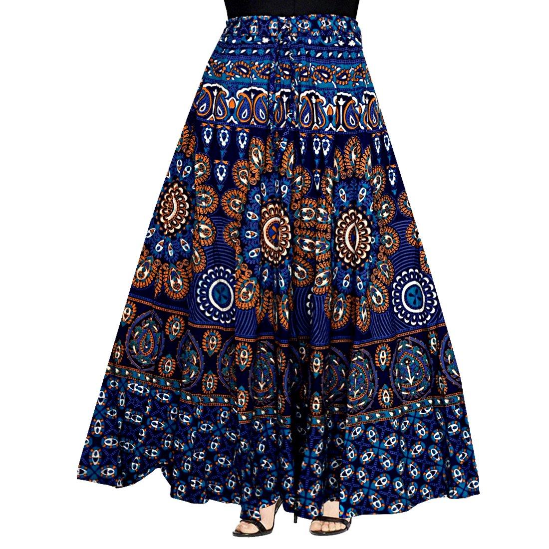 Mudrika Women's Cotton Skirt (Multicolor Free Size)