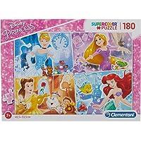 Clementoni 29294 Supercolor Puzzle Disney Princess, 180 Parça