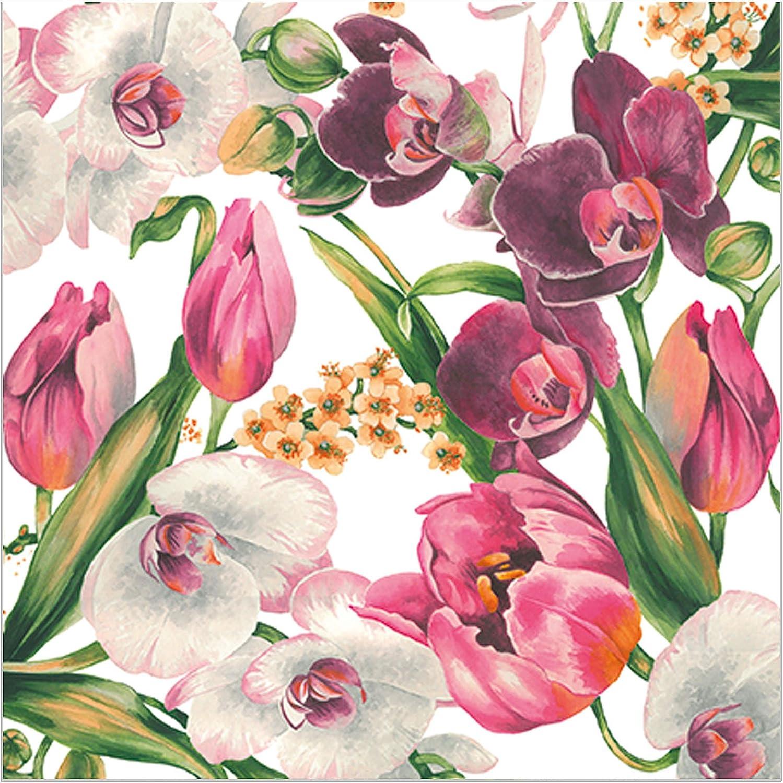 Abbott 88-L//090800 Violet Charm Paper Napkins