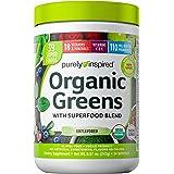 Greens Powder Smoothie Mix | Purely Inspired Organic Greens Powder Superfood | Super Greens Powder Organic | Fruit + Veggie S