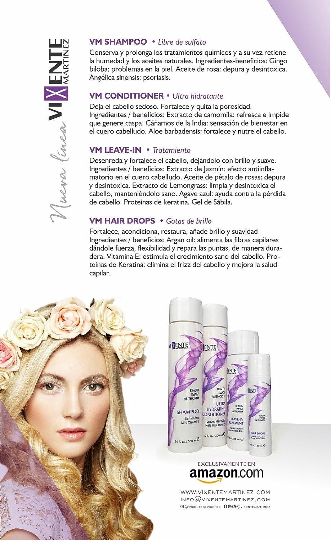 Amazon.com : Vixente Martinez Shampoo Free from Harsh Color ...