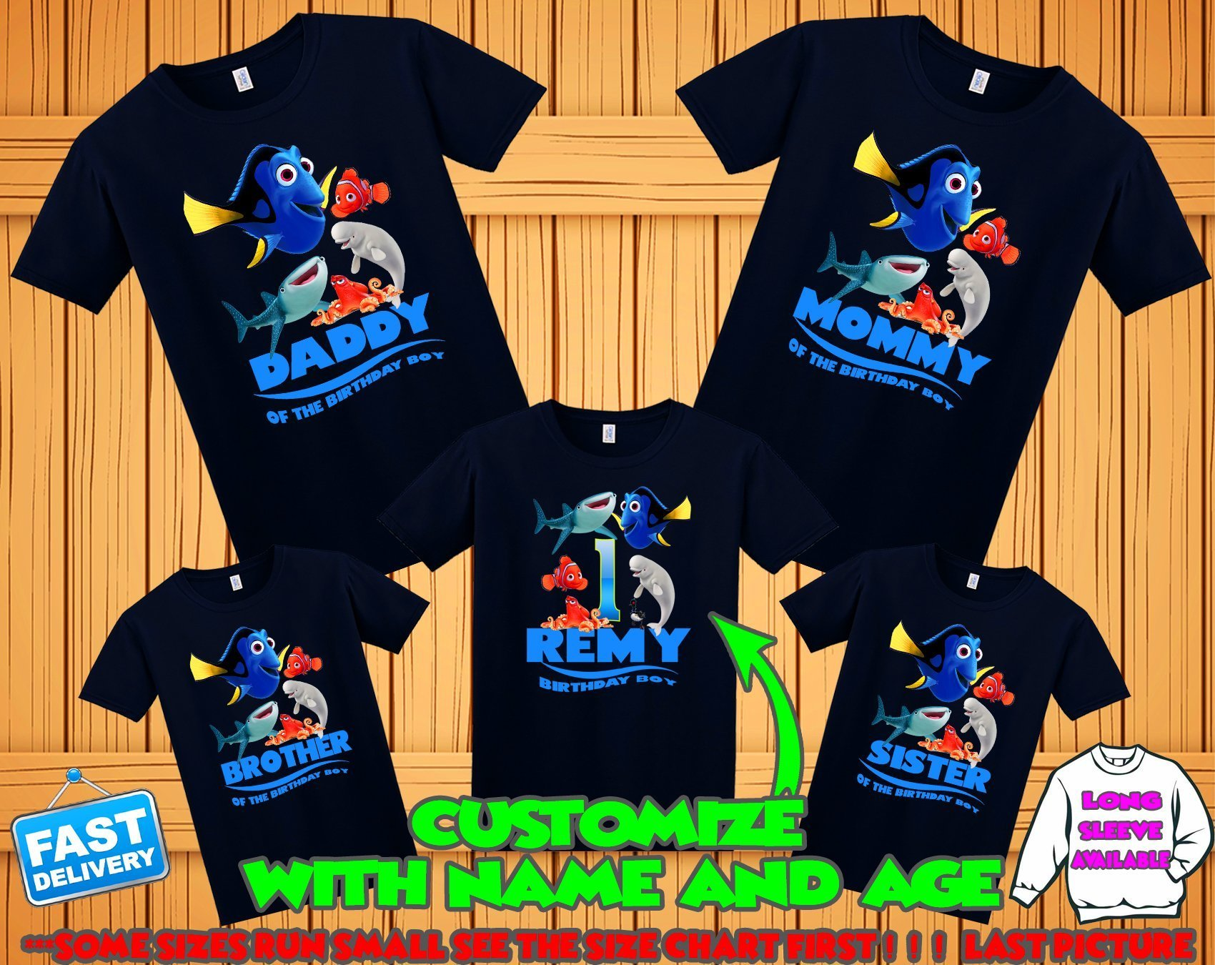 Finding Dory birthday shirt, Finding Dory family shirts, Finding Dory theme party shirts, Finding Dory matching shirts, Finding nemo t-shirt by Birthday T-shirts