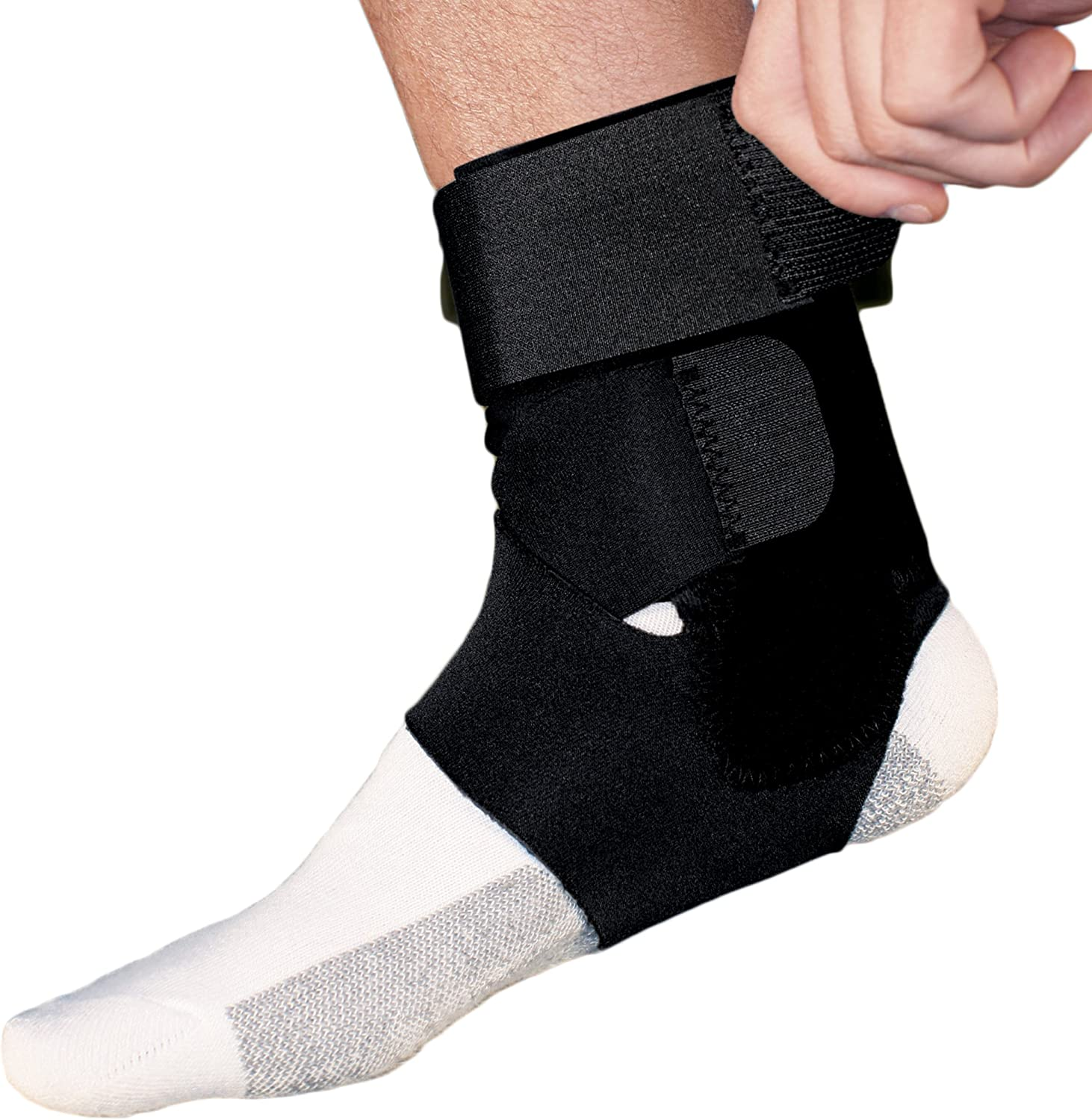 ACE Brand Sport Deluxe Ankle Stabilizer, America's Most Trusted Brand of Braces and Supports, Money Back Satisfaction Guarantee