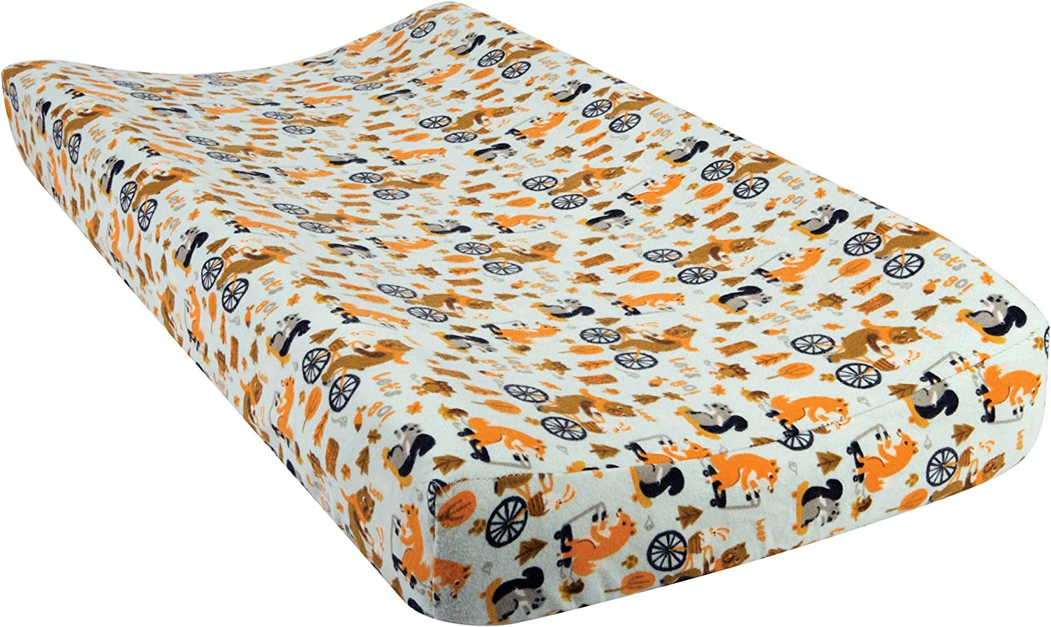 Trend Lab Lets Go Deluxe Flannel Changing Pad Cover