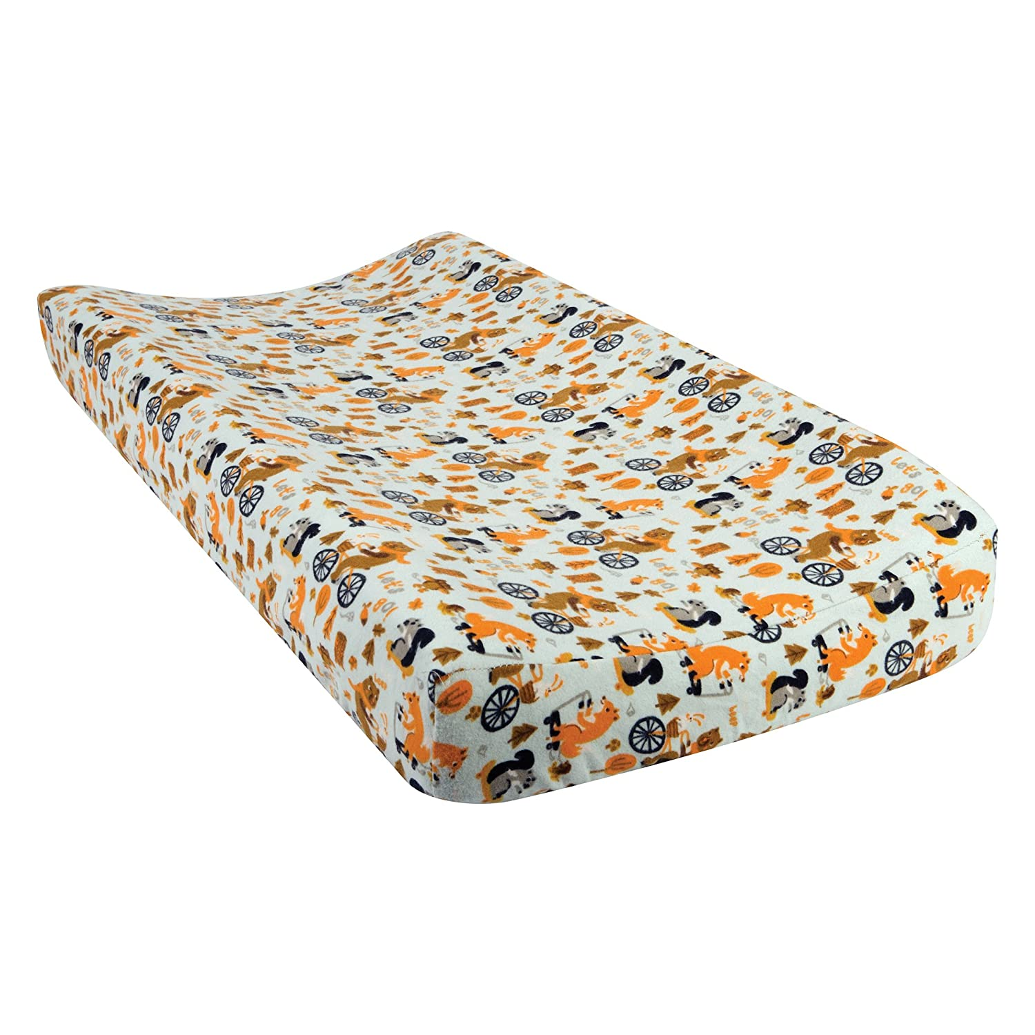 Trend Lab Let's Go Deluxe Flannel Changing Pad Cover 101451