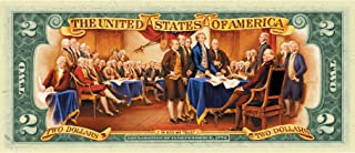 product image for Two Dollar Colorized Bill Declaration of Independence | Genuine United States Currency | Patriotic Collectible | Certificate of Authenticity – American Coin Treasures