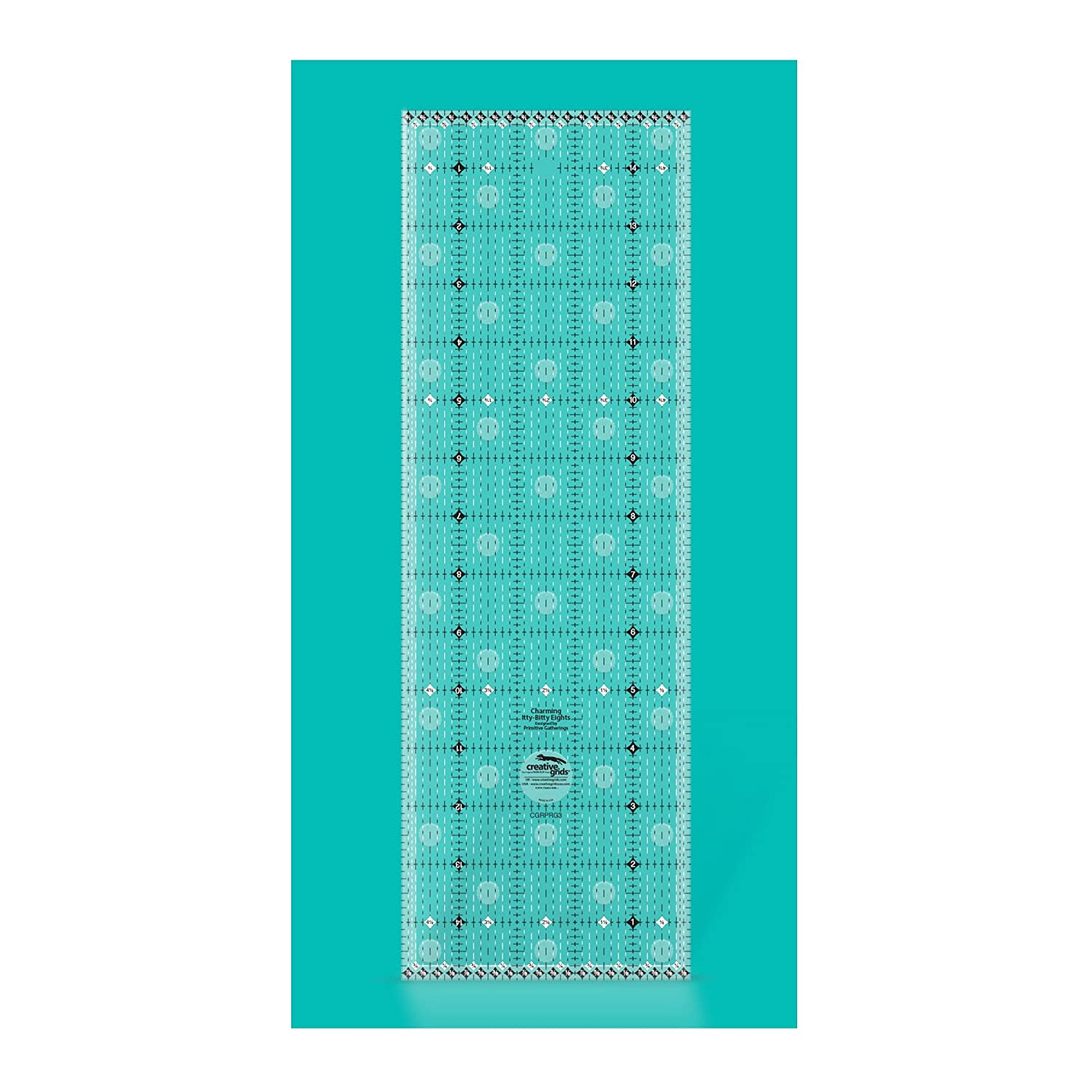 Creative Grids Charming Itty Bitty Eights 5in x 15in Quilt Ruler --Creative Grids