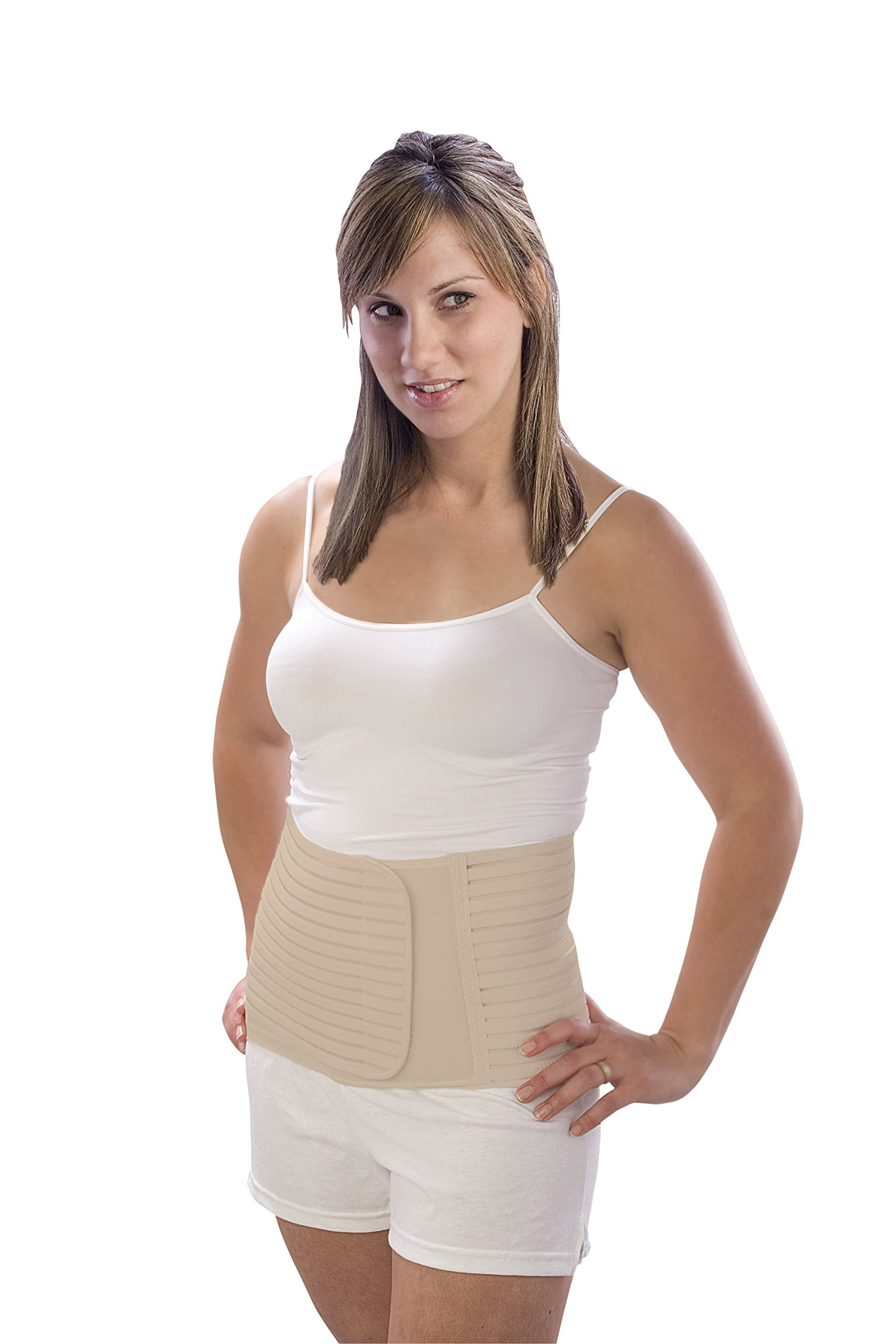 The''Original'' Postpartum Support Belt - by Loving Comfort - Adjustable Abdominal Support for Postnatal and C-Section Recovery - Beige - Medium