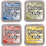 NEW Ranger Tim Holtz Distress Oxide 4 Ink Pads: FADED+PEELED+FIRED+FOSSILIZED
