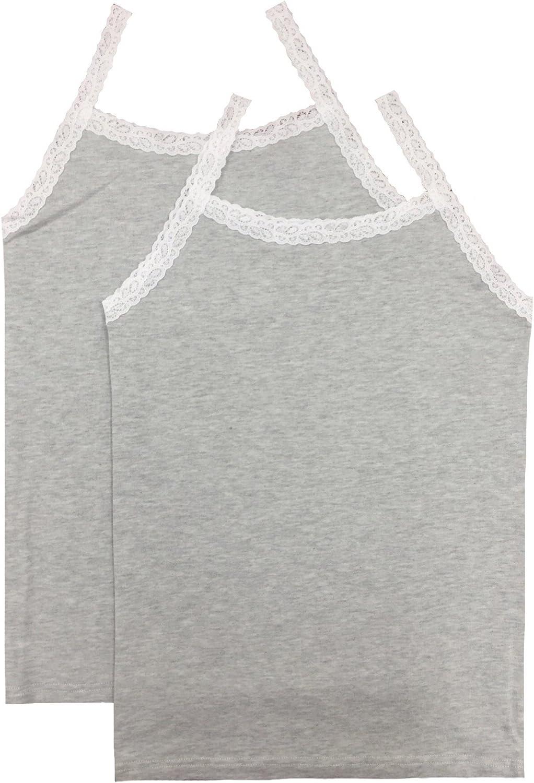 Esme Girls Cami tank Top 2pc under layer white grey black Pink SF900